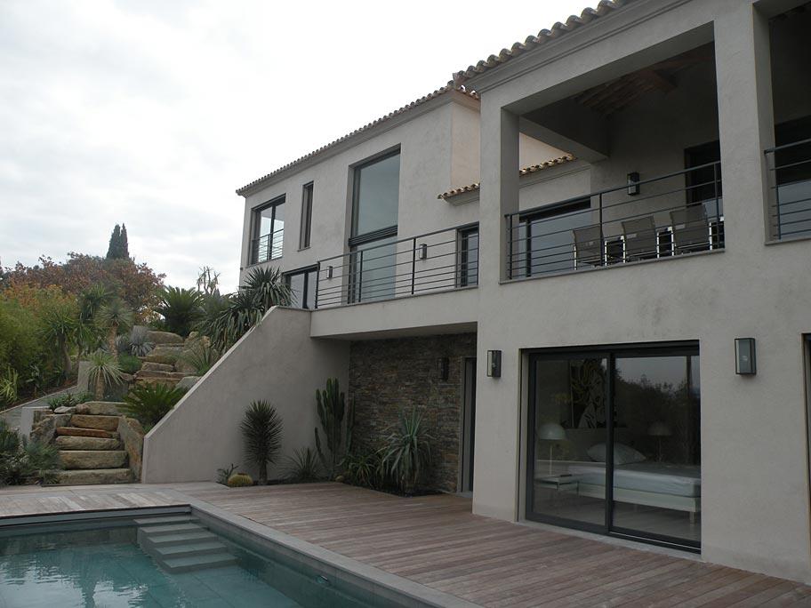 architecte saint tropez villa le. Black Bedroom Furniture Sets. Home Design Ideas